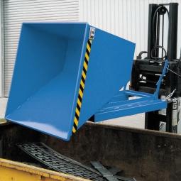 Kippbehälter mit Abrollsystem, Inhalt 0,75 m³, LxBxH 1420x1190x1070 mm, Tragkraft 1000 kg, Gewicht 190 kg