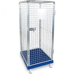 Antidiebstahlbehälter mit Kunststoffboden, LxBxH 815x724x1800 mm, Tragkraft bis 500 kg