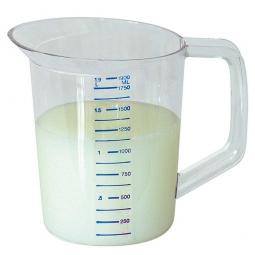 Messbecher aus klares bruchfestes Polycarbonat (PC), Inhalt 1,9 Liter, Ø 150 x H 190 mm