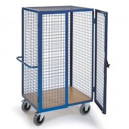 Rollwagen mit Gitterwänden und Türen, LxBxH 1385 x 850 x 1800 mm, Tragkraft 600 kg, Gewicht 92 kg