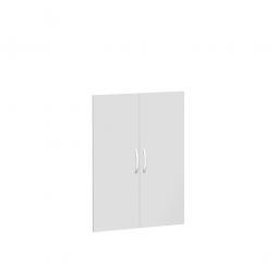 Flügeltüren FLEX für 3 Ordnerhöhen, lichtgrau, Breite 800 mm, mit Metallscharnieren und Türdämpfern