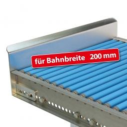 Endanschlag aus Stahlblech für Bahnbreite: 200 mm, Fest verschraubte Ausführung, Oberfläche glanzverzinkt