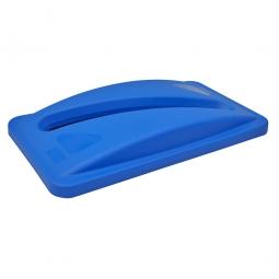 """""""Slim Jim"""" Deckel mit Papiereinwurf, für 60 und 87 Liter, blau, PE-HD, BxTxH 290 x 520 x 70 mm"""