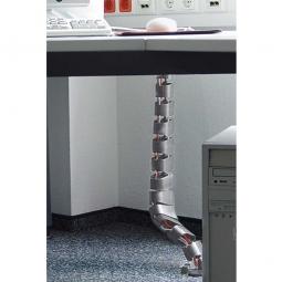 Kabelschlange, flexibel, Material Kunststoff, silber