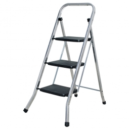 Klapptritt-Leiter aus Alu mit 3 Stufen, Arbeitshöhe bis 2684 mm, Standhöhe 684 mm