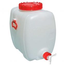 Getränkefass 150 Liter, BxTxH 470 x 740 x 660 mm, naturweiß, PE-HD