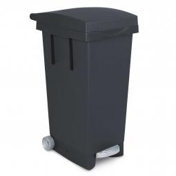 Tret-Abfallbehälter mit Rollen, BxTxH 370 x 510 x 790 mm, Inhalt 80 Liter, anthrazit