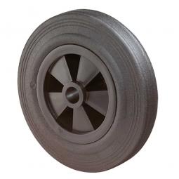 Gummirad, Rad-ØxB 125x37,5 mm, Tragkraft 100 kg, schwarz