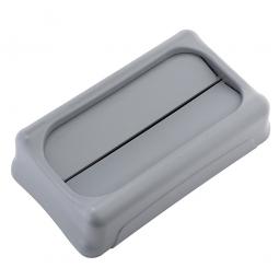 Schwingdeckel für Abfallbehälter, grau, BxTxH 294x523x127 mm, aus stoßfestem Kunststoff