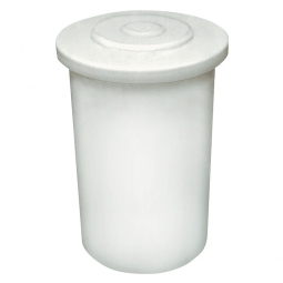 Salzlösebehälter mit Deckel, Inhalt 60 Liter, Außen-ØxH 420/480x580 mm, natur-transparent