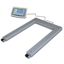 Palettenwaage, LxBxH 1190x840x90 mm, Wägebereich max. 600 kg, Ablesbarkeit 200 g