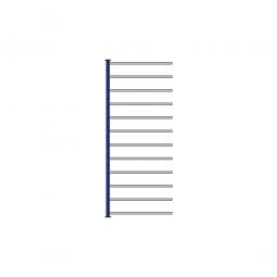 Fächer-Steck-Anbauregal, kunststoffbeschichtet, HxBxT 2000x835x415 mm, mit 12 Fachböden