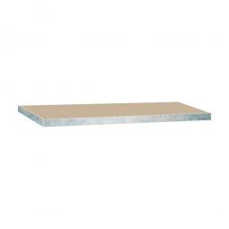 Zusatzebene für Schwerlastregal, glanzverzinkt, Tragkraft 265 kg, BxT 900x600 mm, Nutztiefe 590 mm