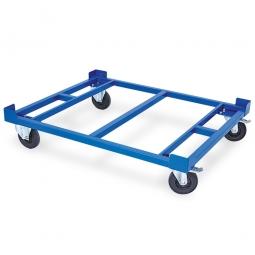 Rahmenroller, LxBxH 1210 x 1010 x 230 mm,  Tragkraft 350 kg, Rad-Ø 160x40 mm, Vollgummibereifung