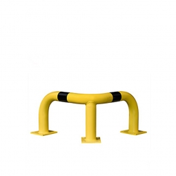Eck-Schutzbügel, HxBxT 350 x 600 x 600 mm, Hoch belastbarer Schutzbügel aus Gütestahl für den Außeneinsatz