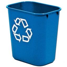 Papierkorb, 13 Liter, blau, BxTxH 290x210x310 mm