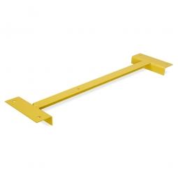 Holzbodenträger (Tiefenauflage), 902 mm lang, für 1000 mm Regaltiefe, Goldgelb RAL 1004 kunststoffbeschichtet