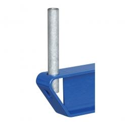 Abrollsicherung, Nutzhöhe 100 mm, Gesteckte Ausführung, Oberfläche verzinkt