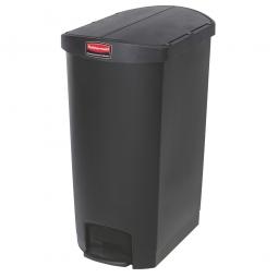 Tretabfalleimer SlimJim, 50 Liter, schwarz, LxBxH 528x344x721 mm, Polyethylen, Pedal an der Schmalseite