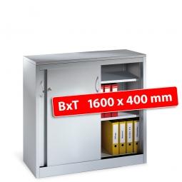 Schiebetürenschrank, 2,5 Ordnerhöhen, BxTxH 1200x400x1000 mm