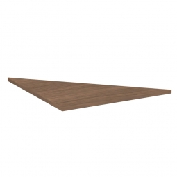 Dreieck-Verkettungsplatte 90° PREMIUM, Nussbaum/Silber, BxT 800x800 mm