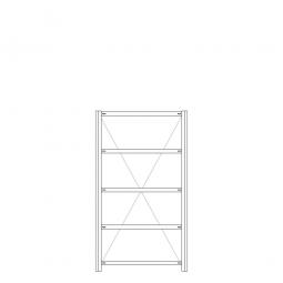 Hygieneregal / Hygienic-Beschichtung, HxBxT 2000 x 1060 x 435 mm, 5 Böden