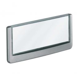 Türschild aus ABS-Kunststoff mit aufklappbarem Sichtfenster, BxH 149 x 52,5 mm, graphit