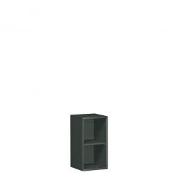 Büroregal PRO, 2 Ordnerhöhen, graphit, BxTxH 800x425x768 mm
