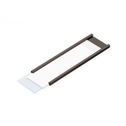 Magnetisches C-Profil, VE = 100 Stück, braun, Zuschnitt BxH 100 x 40 mm, für die individuelle Beschriftung