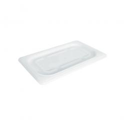 Soft-Deckel für Schale GN1/4, LxB 265x162 mm, Polyethylen-Kunststoff (PE-HD), weiß
