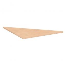 Verkettungsplatte ELEGANCE Dreieck 90°, Dekor Buche, BxT 800x800 mm