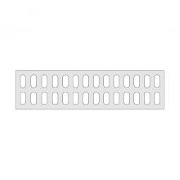 Gitterregalboden aus Kunststoff (Polystyrol), BxT 1450 x 380 mm, bestehend aus 3 Bodensegmenten