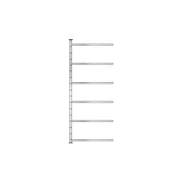 Ordner-Steck-Anbauregal, einseitige Ausführung, HxBxT 2000x1235x315 mm, Oberfläche glanzverzinkt