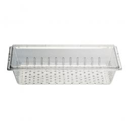 Abtropfsieb für Schale GN1/3,  LxBxH 325x176x20 mm, Polycarbonat, glasklar
