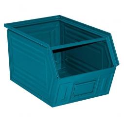 Sichtbox SB2 aus Stahlblech, 41 Liter, LxBxH 520/450 x 300 x 300 mm, blaugrün
