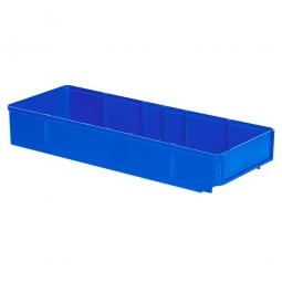 Regalkasten, blau, LxBxH 500x186x83 mm, Polystyrol-Kunststoff (PS), Gewicht 475 g
