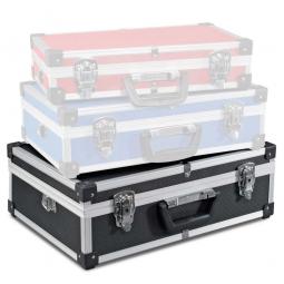 Alu-Rahmenkoffer Größe XL, LxBxH 460 x 335 x 150mm, schwarz, abschließbar