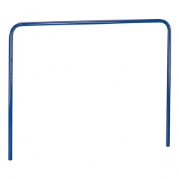Aufsteckbügel, LxH 1705x900 mm, Stahlrohr-Ø 27 mm, Farbe blau