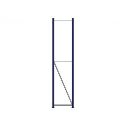 Regalrahmen für Weitspannregale, Stecksystem, fertig montiert, TxH 400 x 2500 mm, Rahmenbreite 40 mm