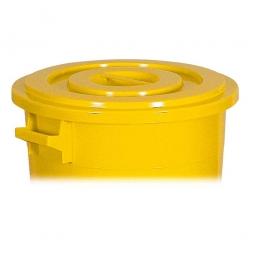 Deckel für Rundtonne 50 Liter, gelb