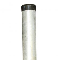 Rohrpfosten für Verkehrsspiegel HxØ 3500x76 mm, Montage durch Einbetonieren. Feuerverzinkt