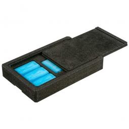 Kühlschiebeaufsatz für Thermobox LxB 600 x 400 mm, hergestellt aus expandierbarem Polypropylen (EPP)