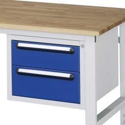 Unterbau-Container für Arbeitstisch, BxTxH 490x600x395 mm, mit 2 Schubladen