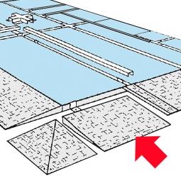 Auffahrrampe, LxB 970 x 850 mm, Aus 5 mm starkem Stahlblech, feuerverzinkt
