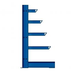 Kragarmregal, einseitige Ausführung, BxTxH 1000 x 400/600/800/1000/1200 x 2000 mm, Achsmaß 1000 mm