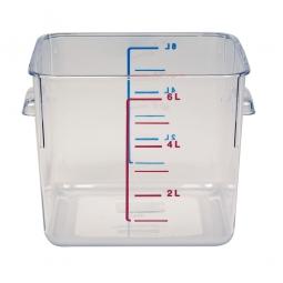 Platzsparbehälter, viereckig, LxBxH 220 x 210 x 175 mm, 6 Liter, glasklar