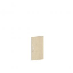 Flügeltür FLEX für 2 Ordnerhöhen, Ahorn, Breite 400 mm, mit Metallscharnieren und Türdämpfern