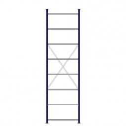 Ordner-Steck-Grundregal, doppelseitige Ausführung, HxBxT 3000x870x630(2x315) mm, Oberfläche kunststoffbeschichtet