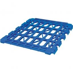 Kunststoff-Zwischenboden, Zubehör für den Rollwagen 2-seitig, blau