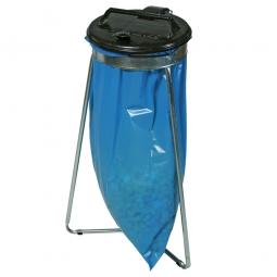 Wertstoffsammler, HxBxT 950x540x540 mm, mit schwarzem Deckel rund, für 1x 70 o. 120 Liter-Müllsack